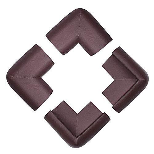 KOMOSO Pack de 4 protectores de bordes de mesa de espuma para muebles, cojines de esquina, parachoques marrón