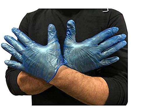 Disposable Vinyl Gloves - 100 Count Box (Medium)