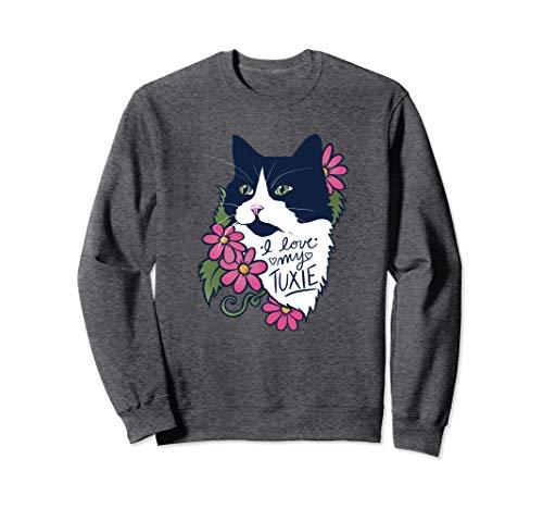 I love my Tuxie Cat Tuxedo Cat Sweatshirt