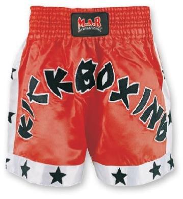 M.A.R International Ltd. - Pantalones Cortos de Boxeo tailandés y Kickboxing para Artes Marciales Mixtas, Ropa de Boxeo Muay Thai K1 Gear Tela de satén de poliéster Rojo Grande