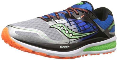 Saucony Men's Triumph ISO 2 Running Shoe, Blue/Silver/Slime, 10.5 M US
