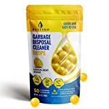 Garbage Disposal Cleaner and Deodorizer Drops- [[50-Count]] Lemon Zest Scented Kitchen Sink Freshener Pods & Drain Odor Eliminator Disposer Care Balls by Bastion