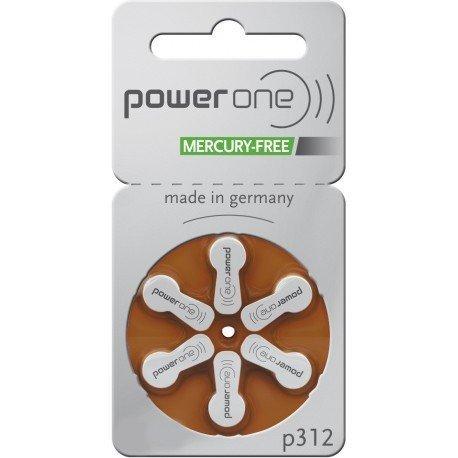 PowerOne Mercury Free Hearing Aid Batteries Size...