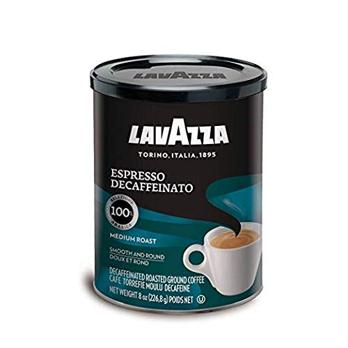 Lavazza Decaffeinated Espresso Ground Coffee, 8 Ounce (Pack of 2) (Limited Edition)