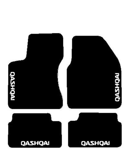 SonCar Tapis De Sol Kit Complet Sur Mesure Avec Broderie Noir