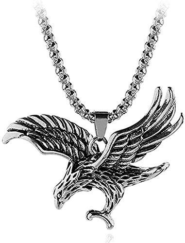 LDKAIMLLN Co.,ltd Collar Mujer Hombre Colgante Clásico Collar clásico Collares con Colgante de águila Vintage para Accesorios de joyería Tour de Cuello