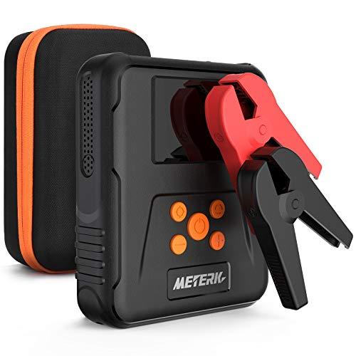 2 in1 Compressore Portatile e Avviatore Batteria Auto,Auto Portatile Avviatore Emergenza per Auto/Moto,12000 mAh, 1000A,15V Jump Starter, Torcia Elettrica a LED, Doppie Porte USB Booster Avviamento