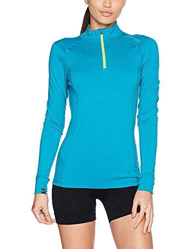 ORTOVOX Damen 145 Ultra Zip Neck Shirt, Aqua, XS