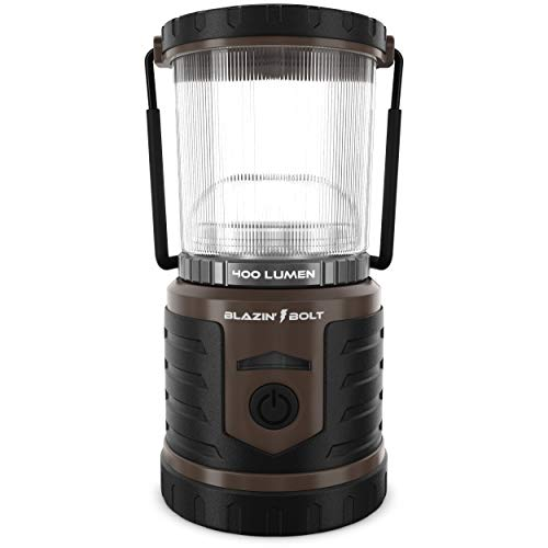 Brightest LED Rechargeable Lantern   Hurricane, Camping, Storm   Power Bank Light   400 Hour Runtime (400 Lumen, Taupe)
