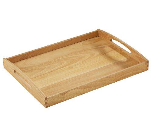Zassenhaus 50547 Tablett, 53 x 41 x 7 cm, Gummibaumholz