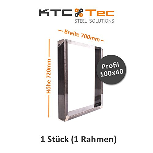 KTC Tec TU100k tafelonderstel, ruw staal, tafelonderstel, tafelonderstel, onderstel Breite 700 mm - 1 Stück (1 Rahmen)