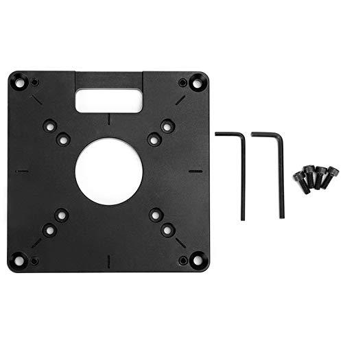 Placa base de la máquina de corte para carpintería, Chacerls Fresado Tablero abatible Máquina de corte para carpintería Placa base Accesorio de hardware Aleación de aluminio