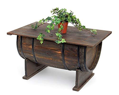 DanDiBo mesa de salón vintage halbiertes Barril de vino 5084de H 80cm mesa de madera mesa auxiliar Botellero Barril Bar