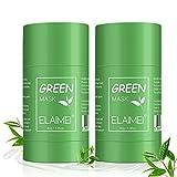 Photo Gallery green tea purifying clay stick mask, (2 pacchi) maschera in stick al tè verde, oil control solid mask maschera idratante per pulizia profonda