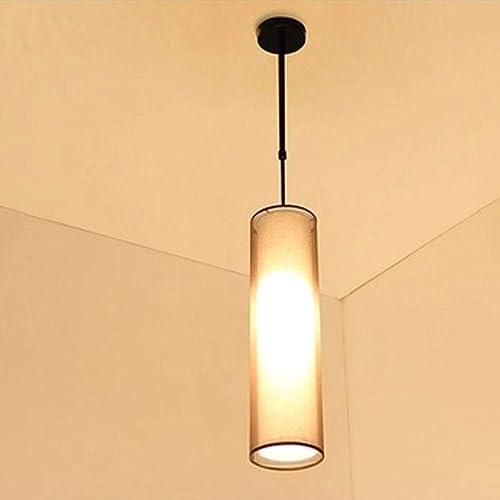 BYDXZ Lampe à Suspension Classique en Lin Couleur Lampe en Tissu Ombre 1-lumière Haute qualité réglable en Hauteur éclairage à Suspension Design Moderne Rond Salon Salle à Manger Chambre