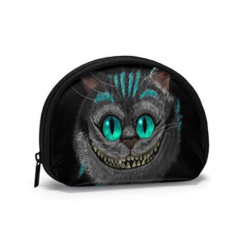 Niedliche kleine Geldbörse, Clutch Bag Reißverschluss Geldbörsen, Shell-förmige Brieftasche Geldbeutel Aufbewahrungsbeutel, Cheshire Cat Cheshirskiy KOT