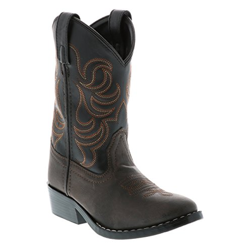 Smoky Mountain Children Boys Monterey Western Cowboy Boots Brown/Black, 11M