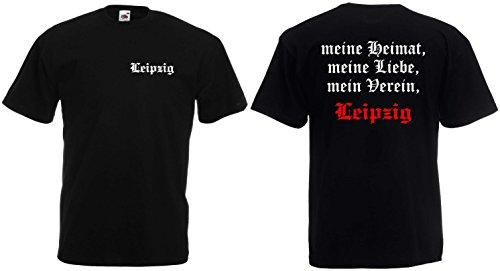 World-of-Shirt Herren T-Shirt Leipzig Ultras Meine Heimat Mein Verein|L