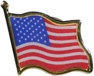 American Flag Mens Lapel Pins, Womens Brooch - USA Waving Flag Pins United States US Badge Pins - 1/3/10 pack by Deal Maniac