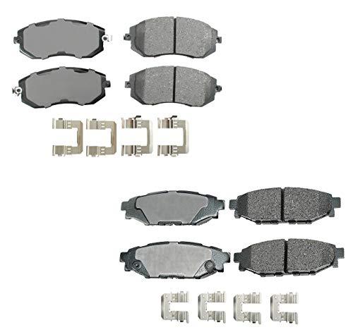 Akebono ProACT Front and Rear Ceramic Brake...