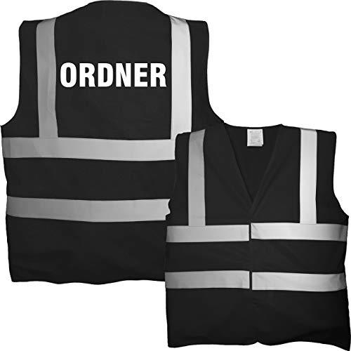 T-Shirt Security   Crew   Ordner   WUNSCHTEXT   Poloshirt   Hoodie   Jacke   Warnweste (XL, Ordner - Warnweste)