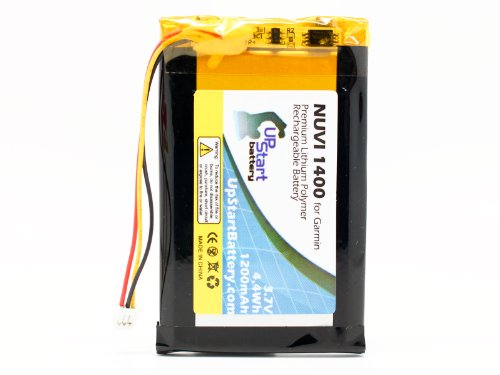Replacement for Garmin Nuvi 1490T Battery - Compatible with Garmin ED38BD4251U20 GPS Battery (1200mAh 3.7V Lithium Polymer)