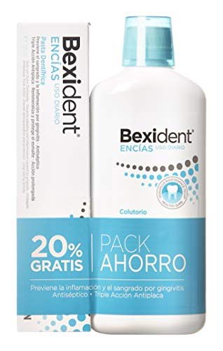 Isdin Bexident Encías Uso Diario Pack ahorro 20% EXTRA Colutorio 500ml+Pasta 125ml