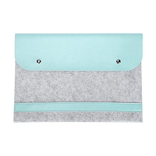 KIKYO Funda para portátil con Tapa, Bolsa Protectora de Microfibra de Fieltro de Doble Capa de 13 Pulgadas para Modelos MacBook Air/Pro de 13 Pulgadas(Menta Verde)