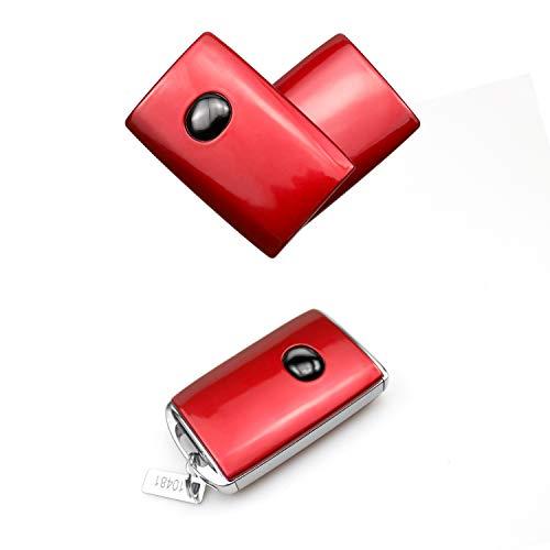 RUIYA Autoschlüssel Hülle aus ABS-Material Schlüsselhülle Autofernbedienungen für CX-30 DM 2019 2020 (Rot)