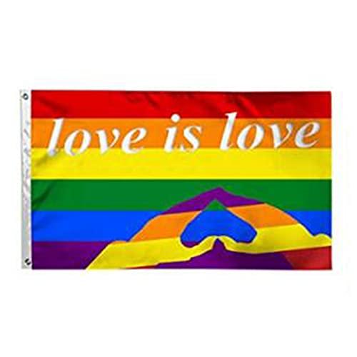 JIJK LGBT-Flagge mit Aufschrift
