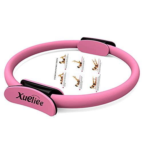 Xueliee Anello di resistenza -Circle Attrezzo Per Allenamento Pilates, Unisex (Pink 38)