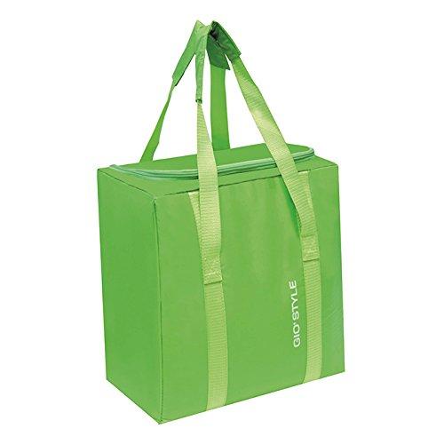 GioStyle Kühltasche, 25Liter, Elektrokuehlbox Fiesta, senkrecht mit Griff aus Farben Orange Grün, Blau und Gelb