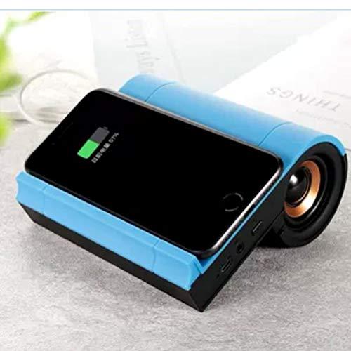 MESST Altavoz inalámbrico Bluetooth, Audio de Carga inalámbrica, subwoofer Interior, Soporte para Llamadas Manos Libres, Adecuado para conectar el teléfono móvil Bluetooth,Blue