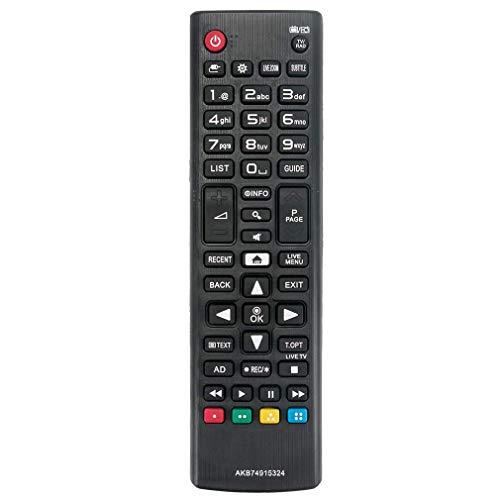VINABTY AKB74915324 Mando a Distancia de Repuesto para LG Smart TV 32LH604V 43LH630V 32LH590U 43UH664V 49LH590V 49LH604V 49UH603V 49UH6109 49UH610V 49UH620V 49UH661V 49UH664V 50UH635V 55UH6159