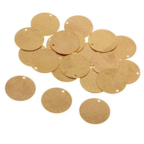 oshhni 20 Piezas de Latón en Blanco Estampado de Monedas Encantos Etiqueta Colgantes Que Encuentran 20 Mm - Oro de 18 Quilates, Individual