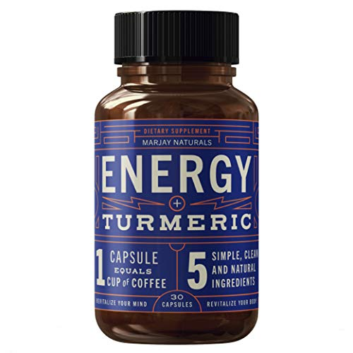 Marjay Naturals Energy Pills - Caffeine Pills with Organic Caffeine, Natural l-Theanine, Organic Turmeric Extract, and Organic Black Pepper | No Preservatives, Fillers, or Binders | Non-GMO…
