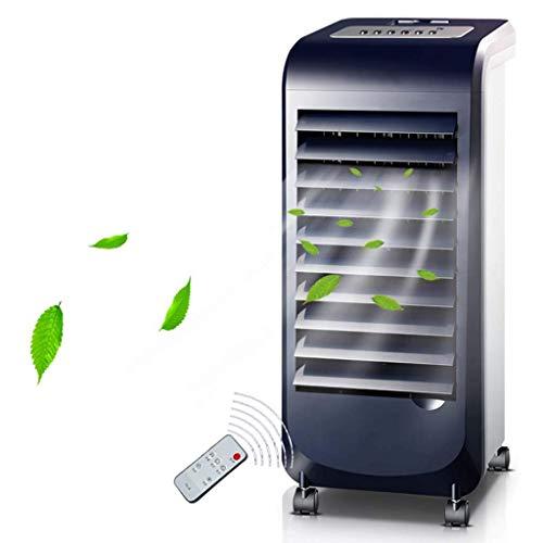 IUHUA Ventilador de Aire Acondicionado móvil con humidificador y purificador de Aire, Enfriador evaporativo con Control Remoto, velocidades para Oficina en casa