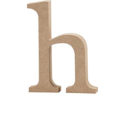 Lettre, h: 13 cm, MDF, h, 1 pièce
