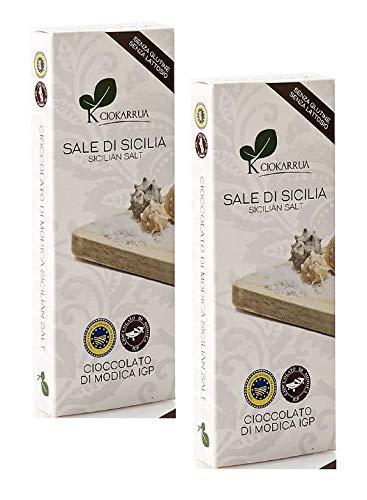2 x 100 Gram - Ciokarrua Cioccolato Sale di Modica