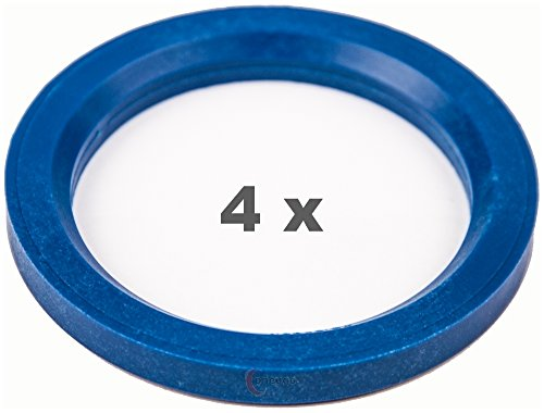 4 anelli di centraggio da 76.0 a 57.1, blu.