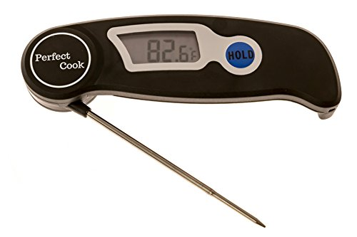 Perfect Cook - Digital Instant Read Thermometer with Stainless Steel for BBQ, Meat, Cooking, Turkey