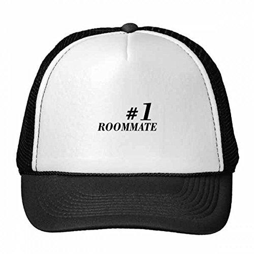 DIYthinker Number.1 Roommate Graduation Seizoen Trucker Hoed Baseball Cap Nylon Mesh Hoed Verstelbare Cap
