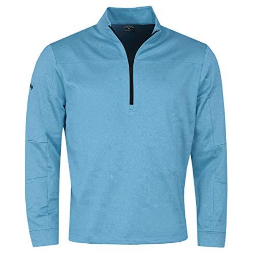 Callaway Golf Hommes Pieced Waffle 1/4 Zip Sweater -...