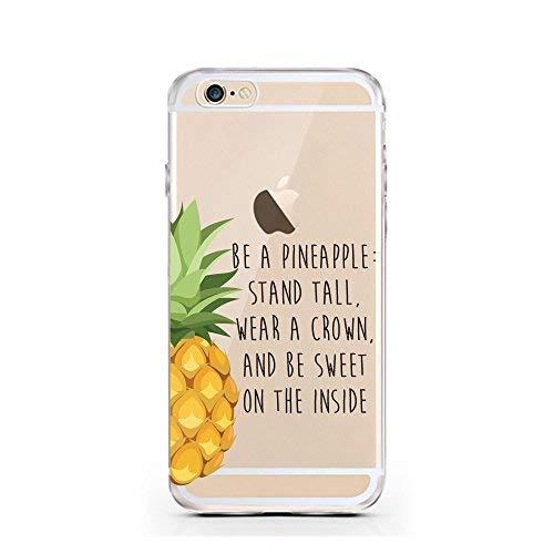 iPhone Cover di licaso per il Apple iPhone 6 & 6S di TPU Silicone Be a Pineapple Ananas Frutta Dolce Princess Modello molto sottile protegge il tuo iPhone 6 & 6S con stile Cover e Bumper