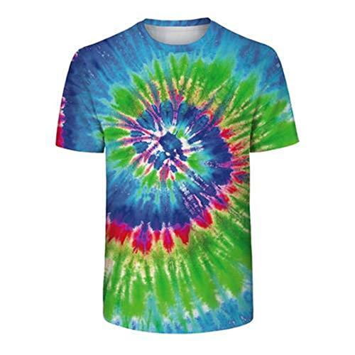 Gradual Tie Dye Full Printed 3D T Shirt Unisex Summer tee Tops Breathable tee 2 EUR XL