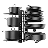 Organizador Ollas y Sartenes Soporte para Sartenes de Cocina Organizador Extensible con 8...
