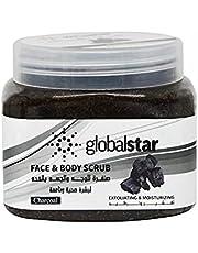 Global Star Charcoal Face and Body Scrub, 500 ml