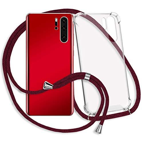 mtb more energy Collar Smartphone para Motorola Moto G7 Play (5.7'') - Rojo Oscuro - Funda Protectora ponible - Carcasa Anti Shock con Correa para Hombro