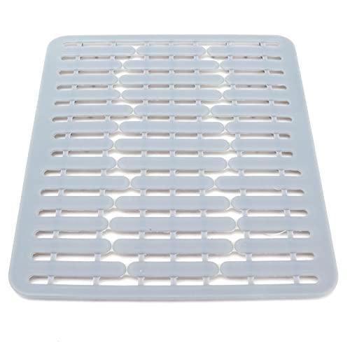 Praktische afdruipmat, gootsteen mat siliconen multifunctionele antislip warmte-isolerende afvoer pad keuken…