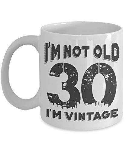 Egoa Ceramic Mug 30e verjaardag Ich Bin nicht Alt Ich Bin Vintage 30e verjaardag Cool 30e verjaardag mode 330 ml speciale grappige houdbare keramische beker thee jubileum porseleinen beker geboorte